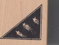 """shooting star corner rubbermoon Wood Mounted Rubber Stamp 1 1/2 x 1 1/2"""""""