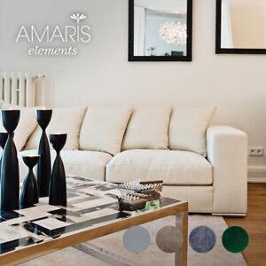 AMARIS Elements | Samt Sofa 4 Sitzer beige 4er Couch creme Velours 2.65m