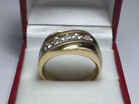 1.25 Ct Round Cut Mens Engagement Wedding Ring 14K Yellow Gold Finish
