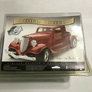 NIB Hot Metal Testors Model Scale 1/24 Red 34 Ford Coupe Gold Series