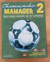 RARE Championship Manager 2 including Season 96/97 Updates PC Big Box Game Eidos
