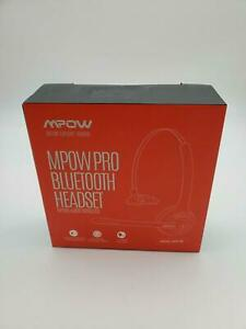 Mpow Pro Trucker Bluetooth Headset V5.0, Wireless Headphones with Microphone for
