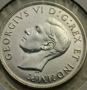 1947 Canada 50 cents dollar coin, Cleaned Pointed 7
