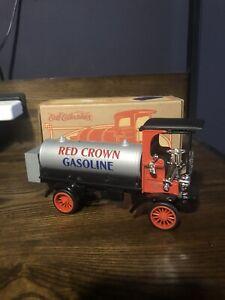 ERTL COLLECTIBLES RED CROWN 1910 MACK TANKER  DIE CAST METAL BANK [lot#47]