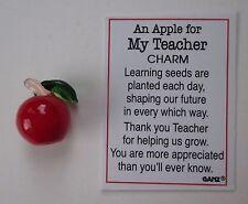 c An Apple for my Teacher Glass figurine miniature appreciation Ganz