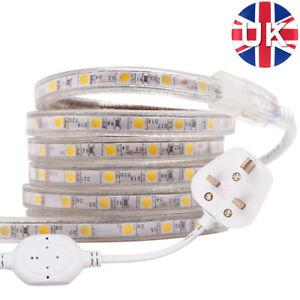 220V 240V LED Strip Lights 5050SMD Waterproof Commercial Tape Rope Mains Plug in