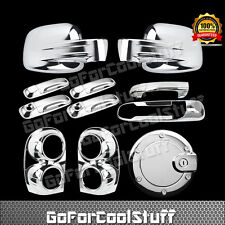 02-07 For Jeep Liberty Mirror+4Door Handle+Gas+Tailgate+Taillights Chrome Covers