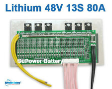 48V 54.6V 13S 80A Lithium ion Li-ion Li-Po LiPo Polymer Battery BMS PCB System