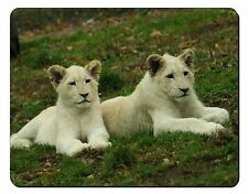 White Lion Cubs Computer Mouse Mat Christmas Gift Idea, AT-51M