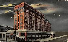 Atlantic City New Jersey~Hotel Strand at Night~Moon Parts Clouds~1910 PC