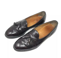 Johnston & Murphy Optima Wing Tip Tassel Loafers brown Men's 10.5 D Made in USA