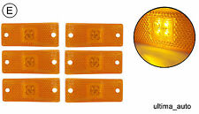 6x 12v 24v LED amber orange side marker lights lamps trailer truck lorry E-mark