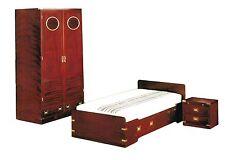 Cameretta stile marina artigianale completa armadio letto comodino in mogano