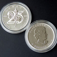 Kanada 5 Dollars 1 oz 2013 Silber 25 years Maple Leaf in Kapsel Canada