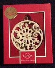 Lenox Winter Wonderland Snowflake Ornament Pearl studded New In Box 1st Quality