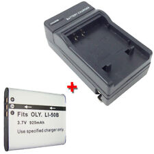 Battery&Charger for OLYMPUS SZ10 SZ11 SZ12 SZ14 SZ15 SZ16 SZ20 Digital Camera