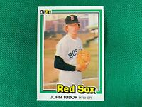 1981 Donruss #457A John Tudor P1 ERROR Lifetime W-L 9.7 Boston Red Sox