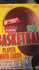 1990-1991 Fleer Basketball Box Michael Jordan Insert Edition Card 36 packs.