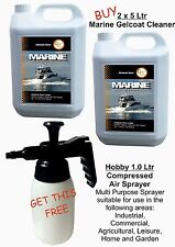 Marine Boat hull and deck Gelcoat Cleaner 2 x 5 ltrs & pump sprayer FREE offer!!