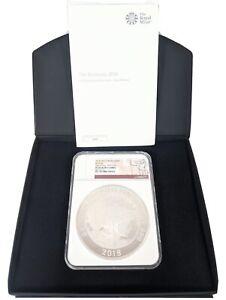 2018 Great Britain Britannia 500 Pound Silver Proof PF70 Ultra Cameo Rare Coin