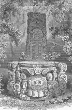 MEXICO. Cofre de Perote. Aztec Idol 1880 old antique vintage print picture