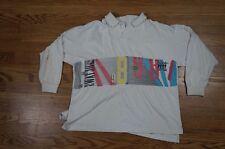 Rare VintageSWATCH Swiss Watch Countdown Big Logo Rugby LS Shirt 90s SZ Bigger