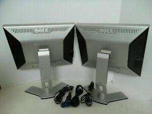 "LOT-2 Dell 2007FP UltraSharp 20"" Monitor w/4-Port USB Hub VGA DVI C9536  G324H"
