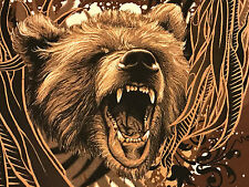 Brand new animal planet men's t-shirt grizzly bear short sleeve brown large