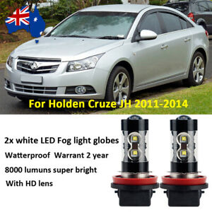 For Holden Cruze JH 2011-2014 Fog Light Globes 8000lm Xenon White CREE LED Bulbs