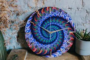 Wall clock Spiral Fractal - home decor