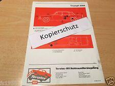 Triumph 2000 Lim. -  Terotex Hohlraumversiegelungsplan