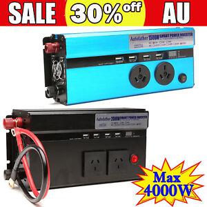 Car Power Inverter Converter DC 12 Volt To AC 240V USB Charger 1500W/4000W PEAK