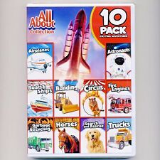 All About Airplanes Boats Astronauts Horses Dogs truck new DVD, 5 hours for kids