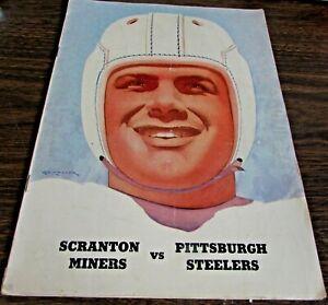 ORIGINAL - 1946 SCRANTON MINERS VS PITTSBURGH STEELERS - GAME PROGRAM