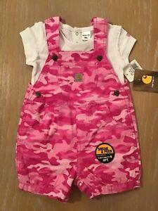 CA9314 Pink Carhartt Infant Girls Camo Deer T-Shirt