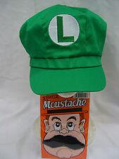 Super Mario Brothers Mario & Luigi Hat Moustache Adult Cosplay Anime Costume