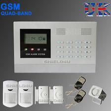 LCD SECURITY WIRELESS MOBILE SIM GSM AUTODIAL HOME OFFICE BURGLAR INTRUDER ALARM