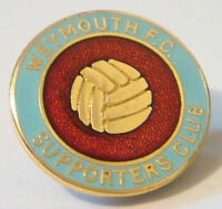 WEYMOUTH FC Vintage SUPPORTERS CLUB Badge Brooch pin in gilt 25mm x 25mm