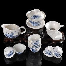 Peony Jade Porcelain Tea Set Suit Ceramic Kung Fu Teaset 14 Pcs