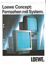 LOEWE Concept Prospekt Katalog Fernsehen mit System  ***** TOPP!!!! *****