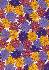 New 100% Cotton Lawn multi-coloured floral print *pm