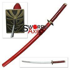Samurai Sword Japanese Anime Ninja Katana Swords Red Cosplay Carbon Steel