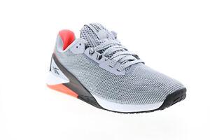 Reebok Nano X1 Grit S42568 Womens Gray Canvas Athletic Cross Training Shoes