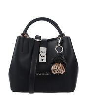 CAFENOIR Crossbody Tote Bag Grainy Detachable Strap Two Handle Charm Detail