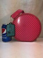 Vtg 1960-70's DOLLY'S OWN Alexander Miner Round Pink Polka Dot Doll Case W/ Tag