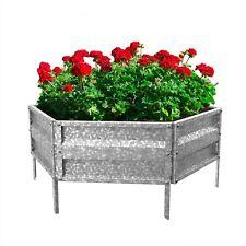 Raised Galvanized Metal Garden Bed Plant Holder for Yard Herbs Flowers Outdoor