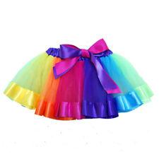 Cute Kinder Ballettrock Bunt Tutu Rock Mädchen Rainbow Tüllrock Minikleid  Tanz 395a0b5da8