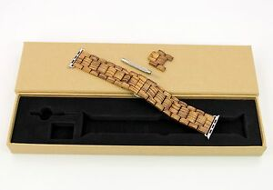 Wooden Watch Band for iWatch Wood Wristwatch Band for Apple Watch 6/SE/5/4/3/2/1