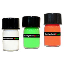 Fluorescent Gun Sight Paint 2ml bottle.  Why Buy Glow In The Dark Or Tape?