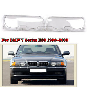 Car Headlight Lens Covers For BMW 7 Series E38 Facelift 1999-2001 Top Quality